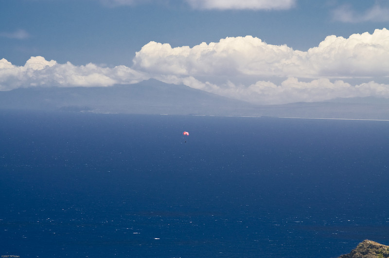 Paragliders  and Hang Gliders over Makapuu-72