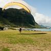 Paraglider landings at Kaupo Beach Park-18