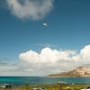 Paraglider landings at Kaupo Beach Park-2