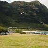 Paraglider landings at Kaupo Beach Park-9