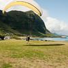 Paraglider landings at Kaupo Beach Park-19