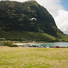 Paraglider landings at Kaupo Beach Park-8