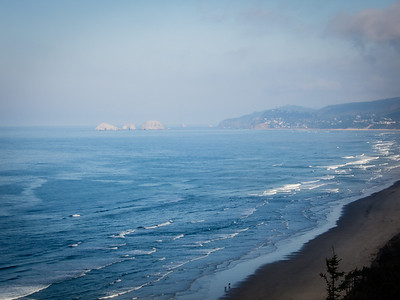 View from Cape Lookout launch site to Arch Rocks