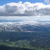 Nydelig utsikt vestover fra 3000 meters høyde