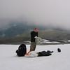 Fredrik gjør sseg klar til start på Mytingsfjellet