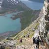 På vei ned fra Knutshø