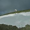 Fredrik swooper snøen på Salknappen
