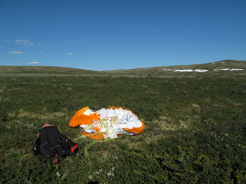 Trysil-Renndalen: Landing