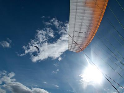 Jeg og AK på vei opp i en fin boble over Sundvollen - Mai 2010