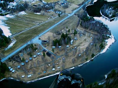 Liagardene-Flå 47,3km: Campingen jeg landet på
