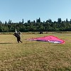 Paramotor forward launch in no wind.