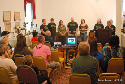 Audience and Paranormal members for the second presentation.