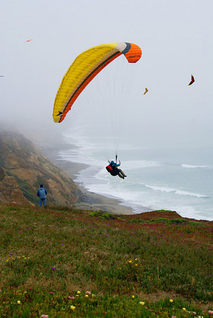Parasailing in the Fog