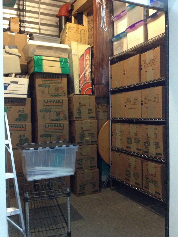moving living/dining room contents into storage