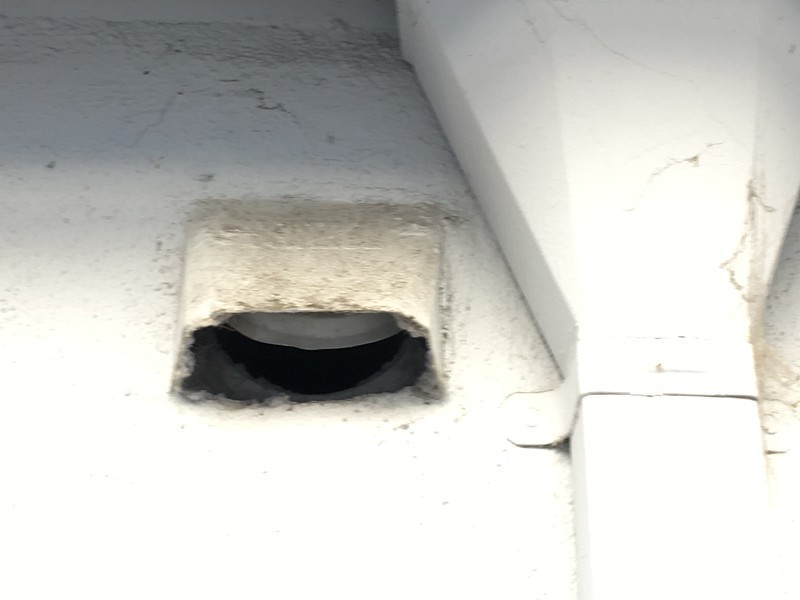 Dryer vent shared by 794-796, flap ajar