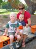 Riding the minitaure railroad at Hagan Park