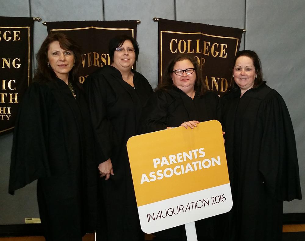 Parents Association Board Members at the Inauguration of Christine M. Riordan