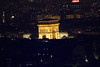 Night views, this one from the Eiffel Tower.