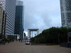 """Looking back at the Grand Arch.  """"Former French president Francois Mitterrand had the Grande Arche built as a centerpiece of this mini-Manhattan.""""  Rick Steves travel guide"""