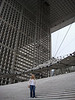 The Grande Arche is a huge picture frame shaped office building.