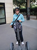 "Cathy and her Segway ""Segasarus"""