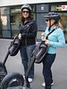 Yvonne and Cathy with their Segways