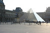 The pyramid is the main entrance into the Louvre