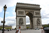 Construction of the 165-foot-high Arc de Triomphe began in 1809 to honor Napoleon's soldiers