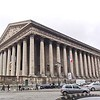 La Madeleine. Designed in 1806 <br> as Temple de la Gloire de la Grande Armée by Napoleon I. then when construction finished in 1845 dedicated as catholic church as the place was previously the site of an older church for Mary Magdalena.