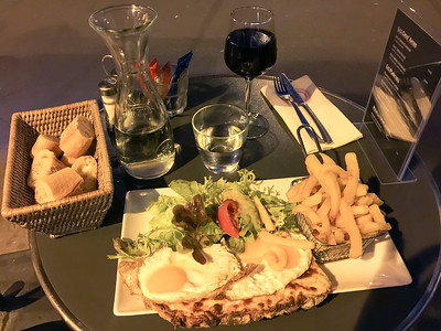 My dinner on my first night in Paris (this trip).  I had excellent service, and the staff was very attentive ....even if I was dining alone.