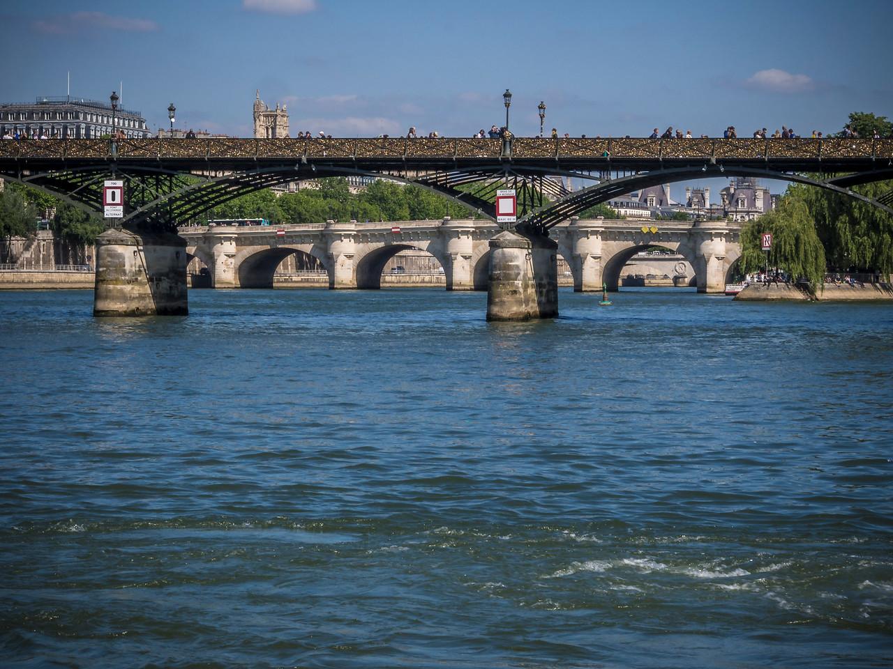 Pont des Arts and Pont Neuf River Seine Paris