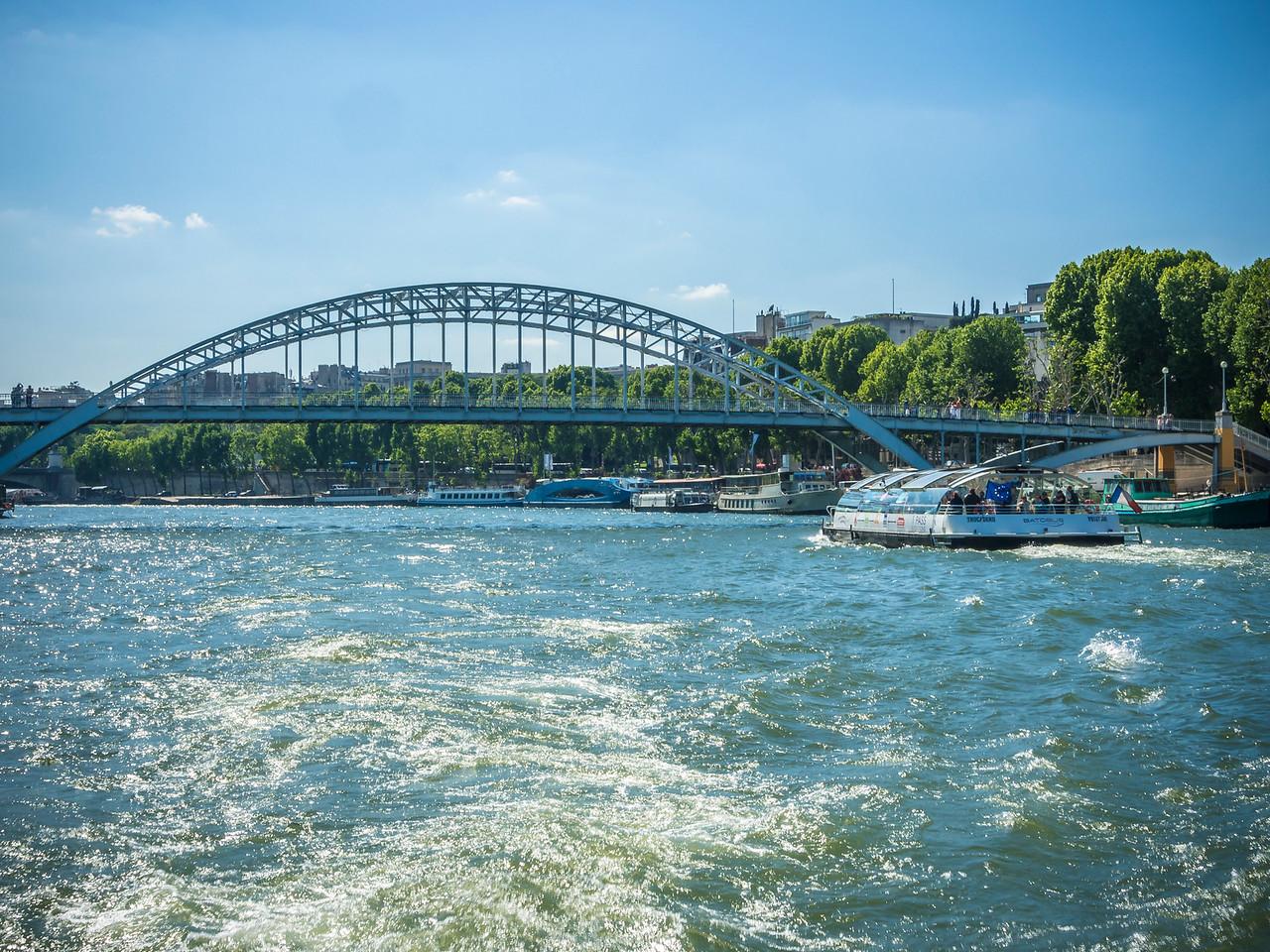 Pont d'Austerlitz crossing the River Seine Paris