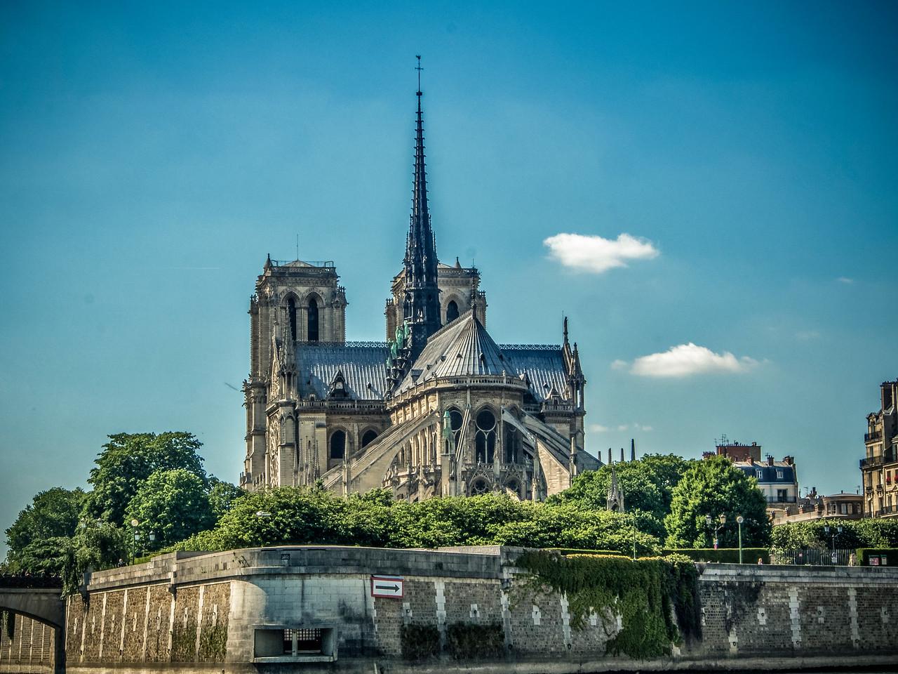Notre Dame from River Seine Paris