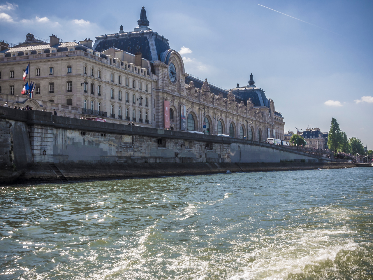 Musee D'Orsay from the River Seine Paris