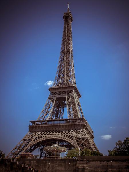 Eiffel Tower from River Seine Paris