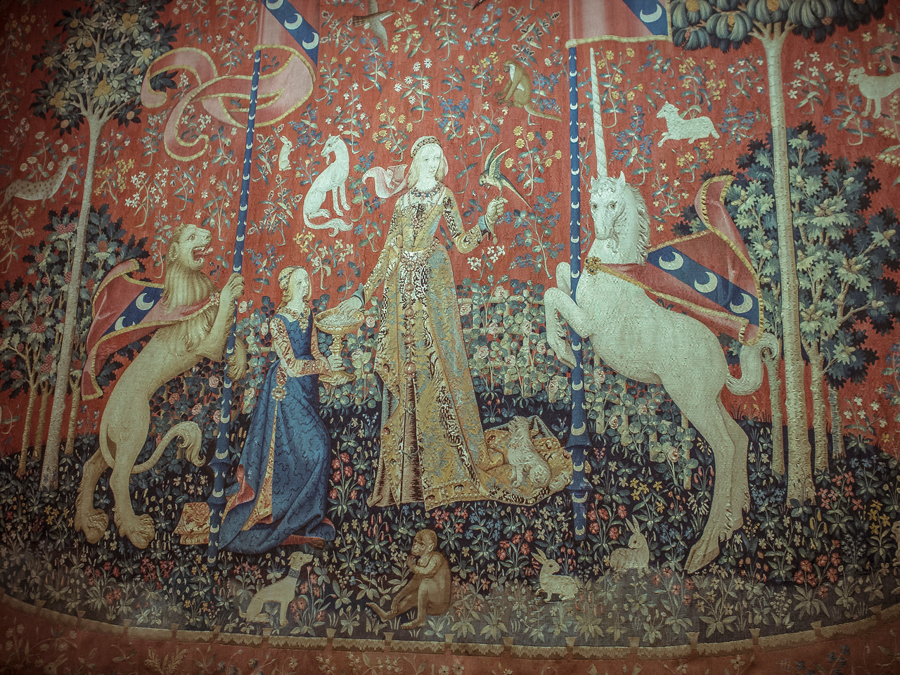 Cluny tapestries at Musee de Moyen Age Paris