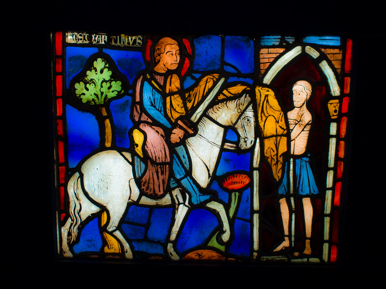 Stained glass at Medieval Museum Paris