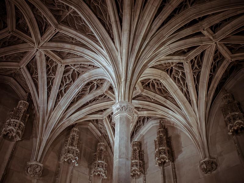 Gothic vaulted arches Musee de Moyen Age Paris