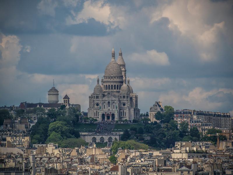 Sacre Coeur Basilica Montmartre from Pompidou Center Paris