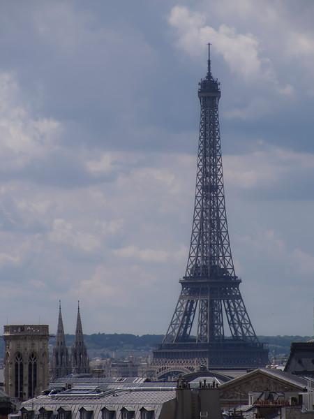 Eiffel Tower from Pompidou Center Paris