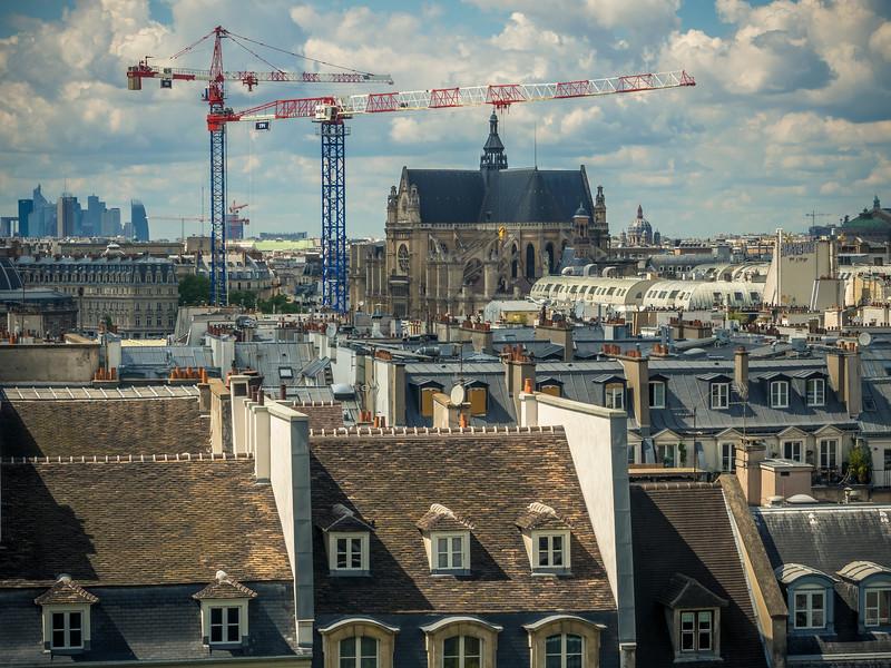 Notre Dame from Pompidou Center Paris