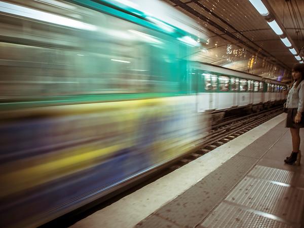 Inside the Metro, Paris