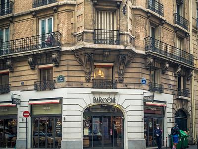 Paris sidewalk cafes, boulangeries and bistros
