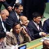 Union Minister of State (Independent charge) is Piyush Goyal and Minister of State (independent charge for Environment Forest and Climate Change) Prakash  Javadekar at UNGA on 22ns April 2016...pic Mohammed Jaffer-SnapsIndia