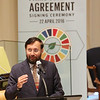 Minister of State (independent charge for Environment Forest and Climate Change) Prakash  Javadekar speaking at Trustee Ship on the occasion of Earth Day on 22ns April 2016...pic Mohammed Jaffer-SnapsIndia