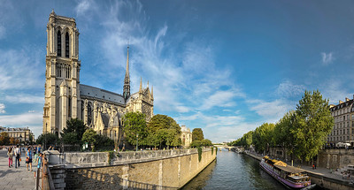 Notre Dame Church and the Seine River