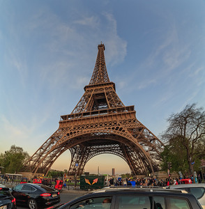 Eiffel Tower Wide Angle
