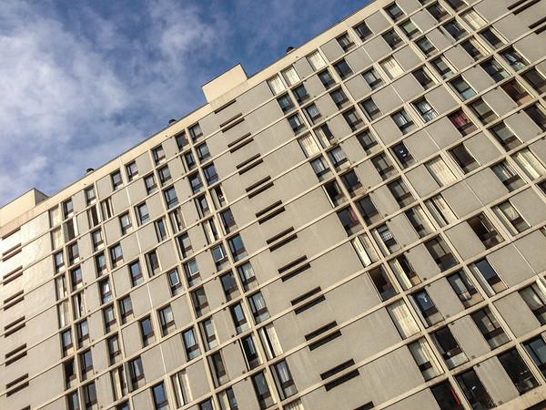 Modern windows in Paris
