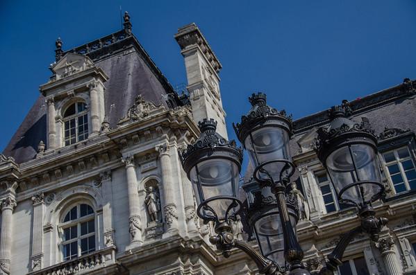 Ornate Paris rooftops