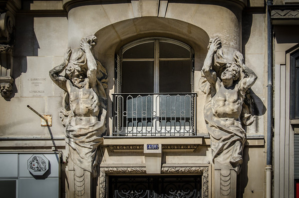 An ornate doorway in Paris